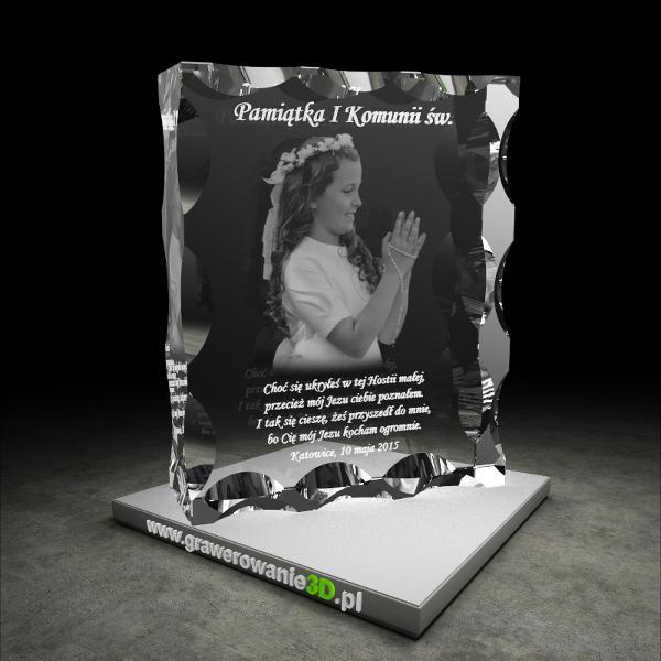 835e6d11e8951 Pamiątka Pierwszej Komunii Świętej - Grawerowanie3D