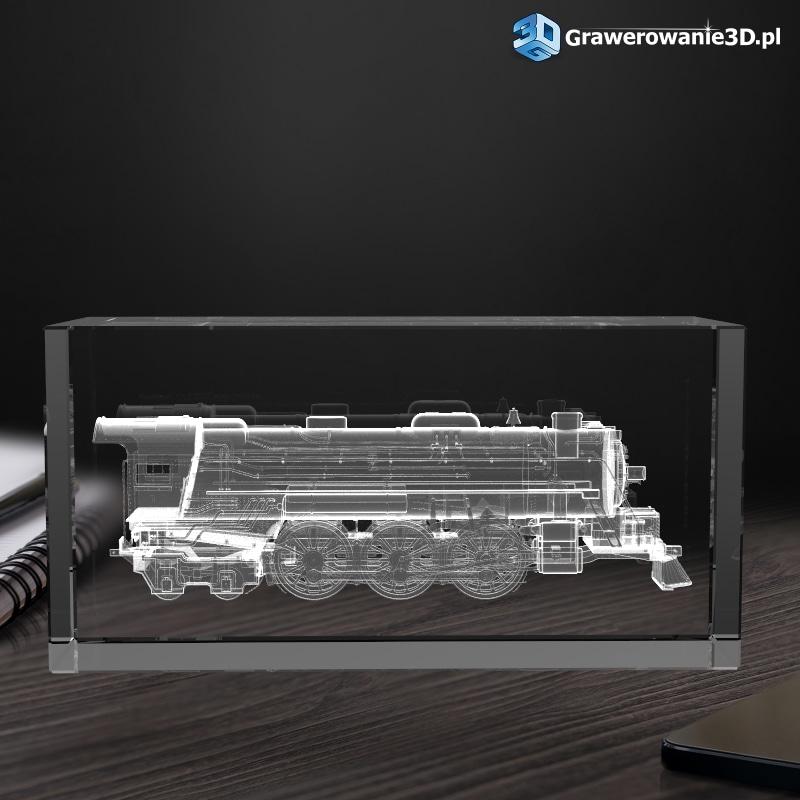 lokomotywa 3D prezent dla kolejarza