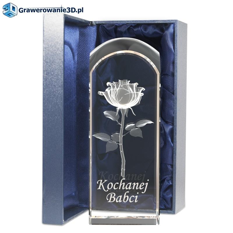 wygrawerowana Róża 3D