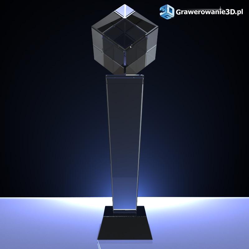 puchar z kryształu do grawerowania laserowego 3D