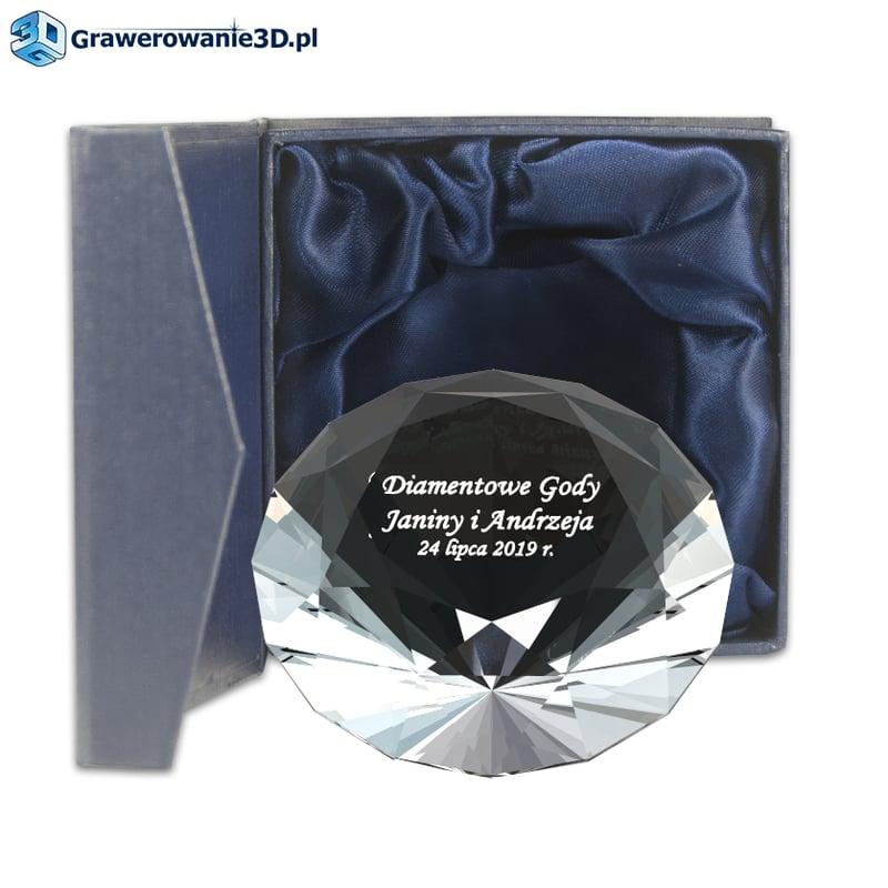 Diamentowe gody prezent grawerowany