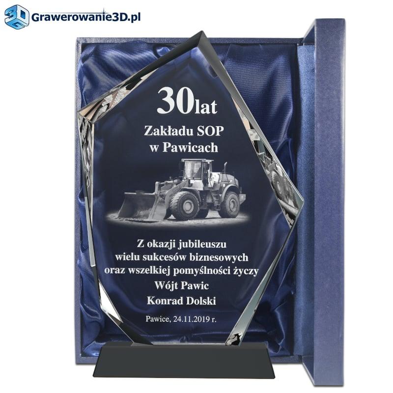 jubileusz istnienia firmy, prezent grawerowany dla firmy