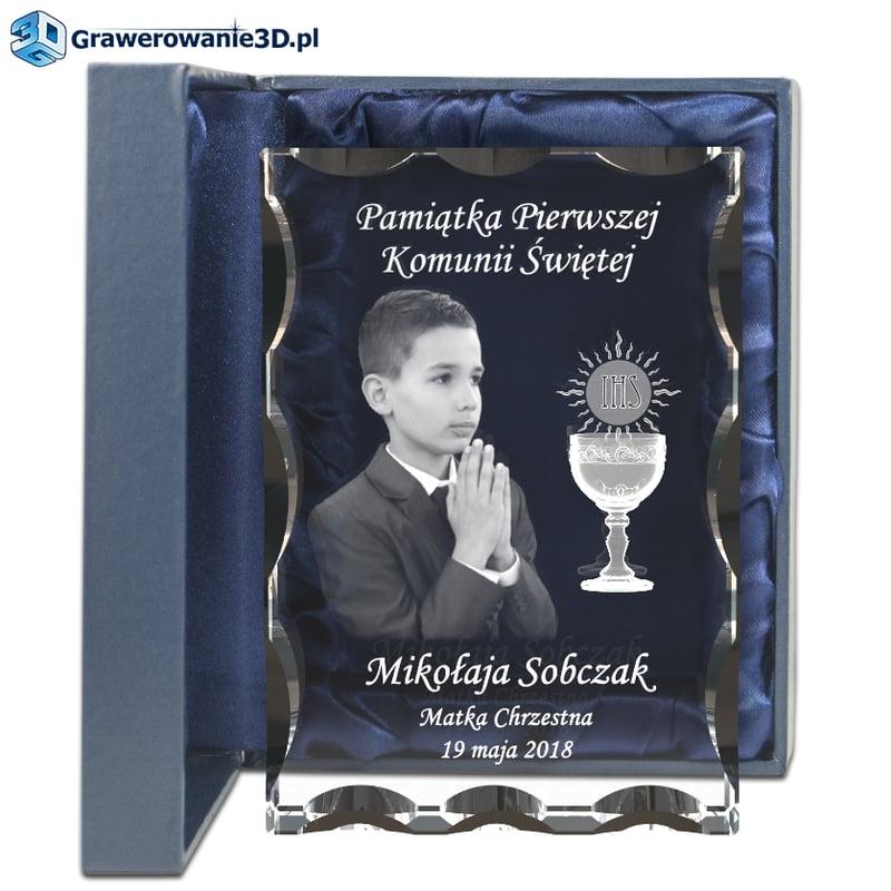 grawerowany prezent dla chłopca na komunie, piękna pamiątka dla chłopaka na pierwszą komunię św.