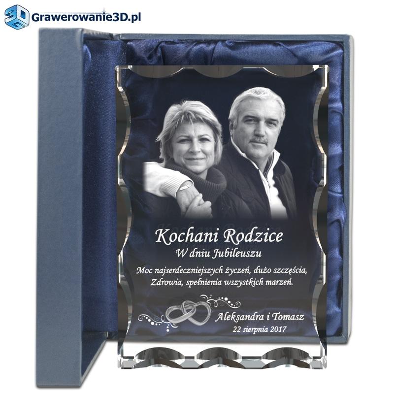 prezent dla rodziców na rocznicę ślubu, pamiątka rocznicy ślubu w szkle grawer